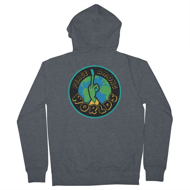 Peace Among Worlds Men's French Terry Zip-Up Hoody by Evan Ayres