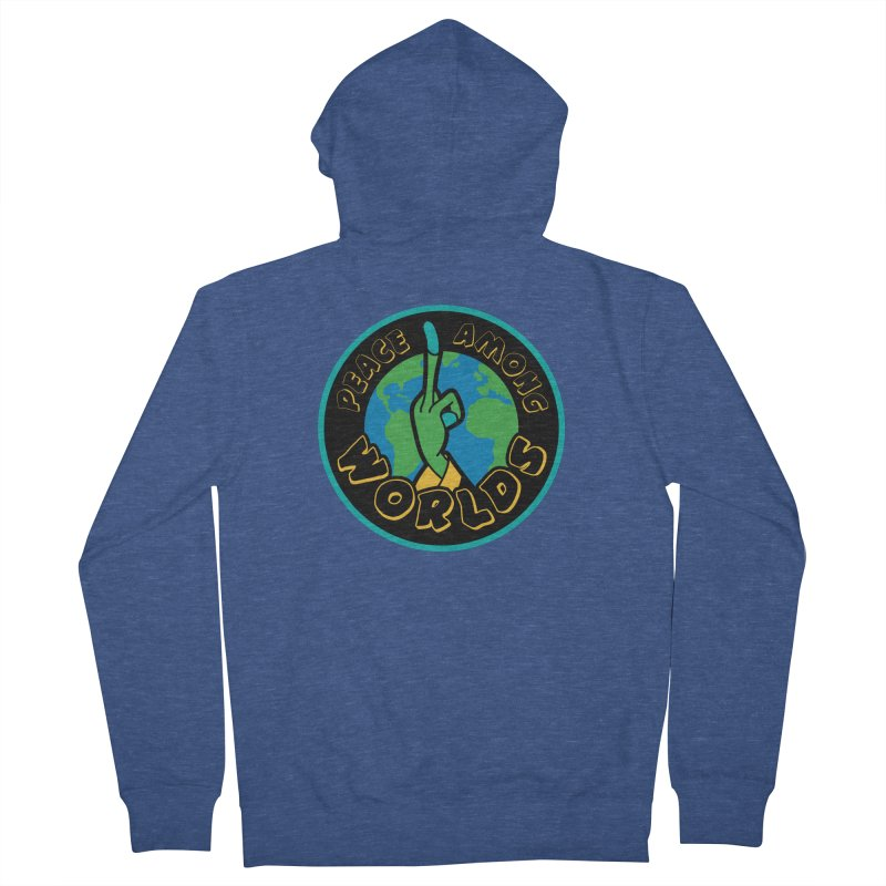 Peace Among Worlds Men's Zip-Up Hoody by Evan Ayres