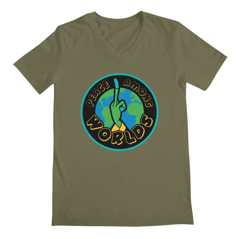 Peace Among Worlds Men's Regular V-Neck by Evan Ayres