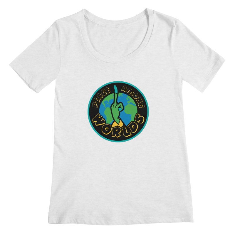 Peace Among Worlds Women's Scoopneck by Evan Ayres
