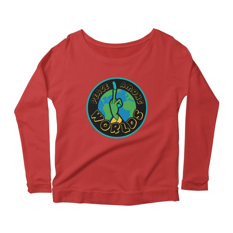Peace Among Worlds Women's Longsleeve Scoopneck  by Evan Ayres