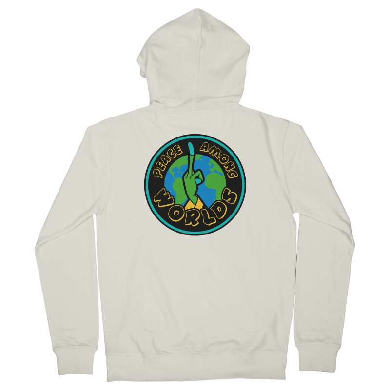 Peace Among Worlds Women's French Terry Zip-Up Hoody by Evan Ayres Design