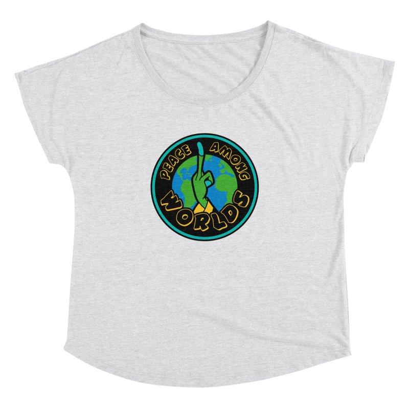 Peace Among Worlds Women's Dolman Scoop Neck by Evan Ayres Design