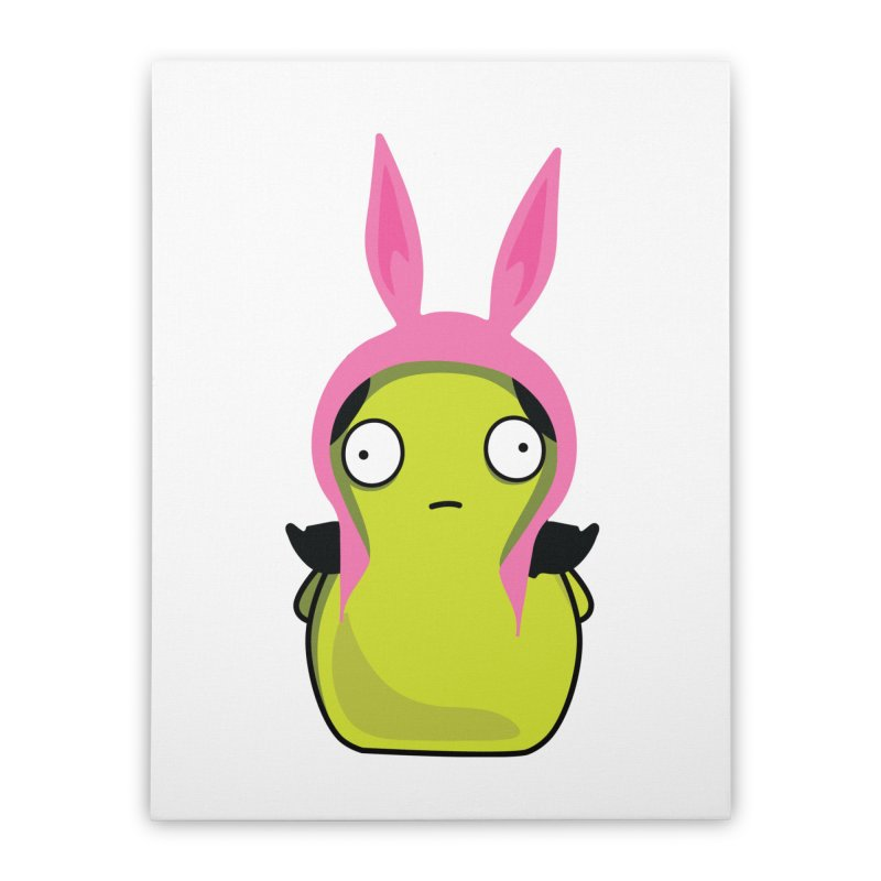 Kuchi Kopi Louise Home Stretched Canvas by Evan Ayres Design