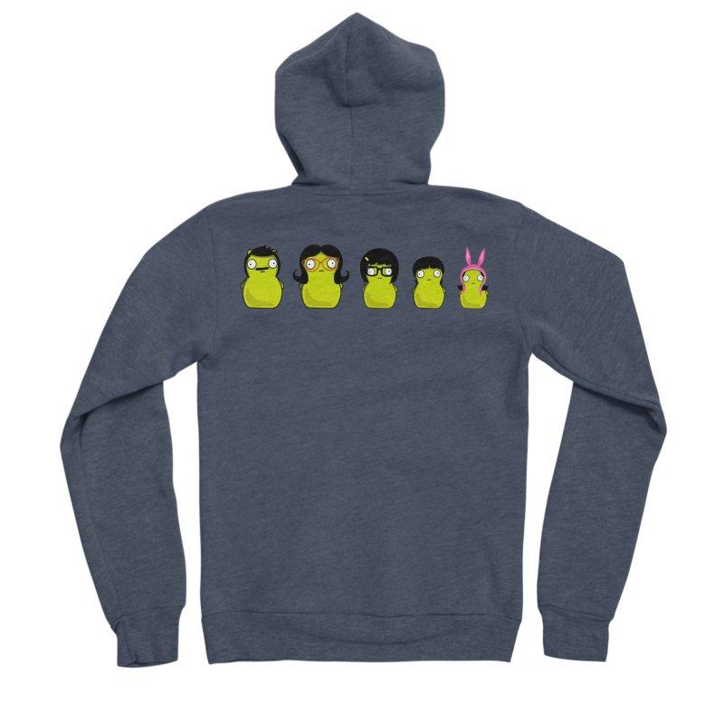 Kuchi Kopi Belcher Family Men's Sponge Fleece Zip-Up Hoody by Evan Ayres Design