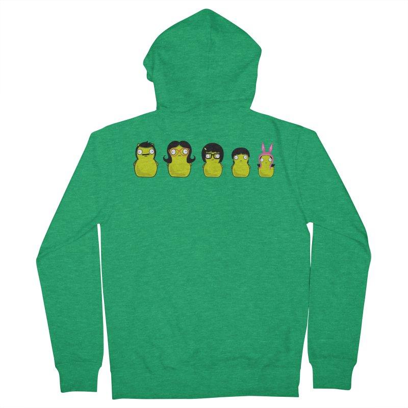 Kuchi Kopi Belcher Family Men's French Terry Zip-Up Hoody by Evan Ayres Design
