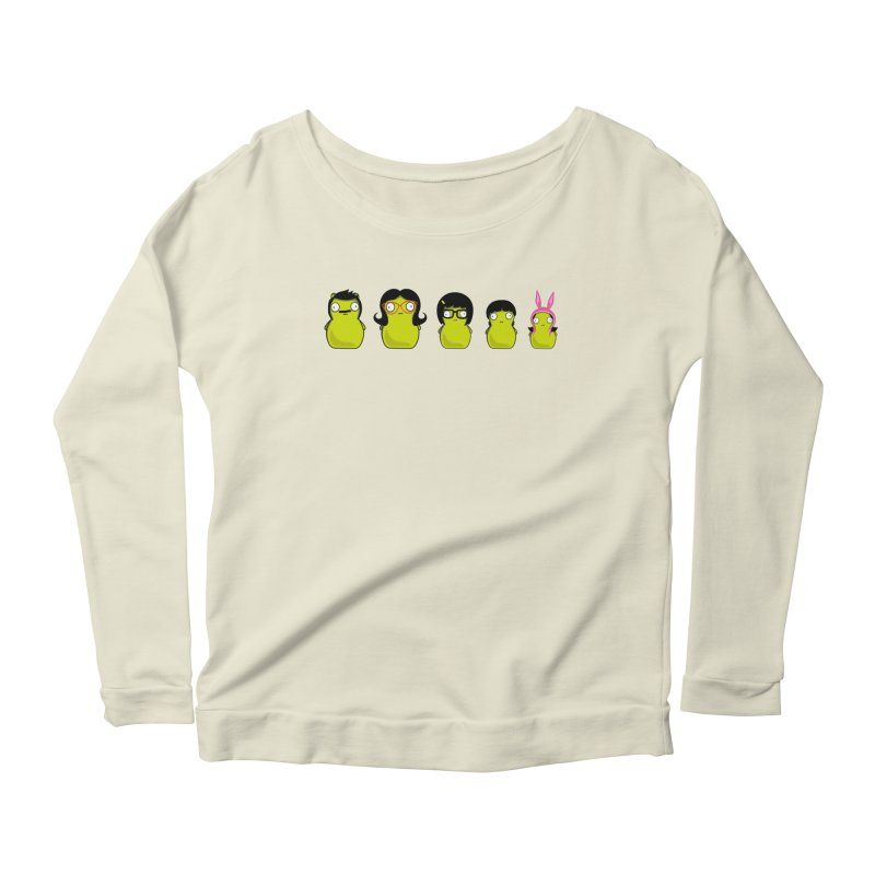 Kuchi Kopi Belcher Family Women's Scoop Neck Longsleeve T-Shirt by Evan Ayres Design