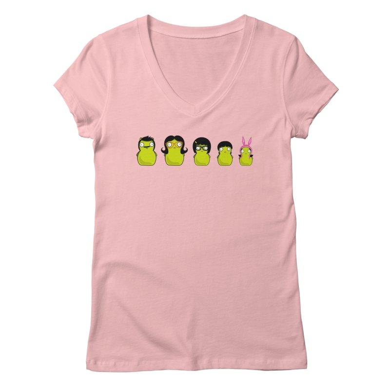 Kuchi Kopi Belcher Family Women's Regular V-Neck by Evan Ayres Design