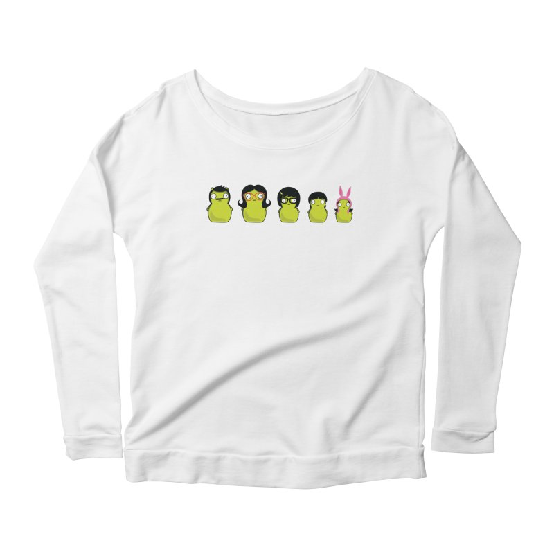 Kuchi Kopi Belcher Family Women's Scoop Neck Longsleeve T-Shirt by Evan Ayres