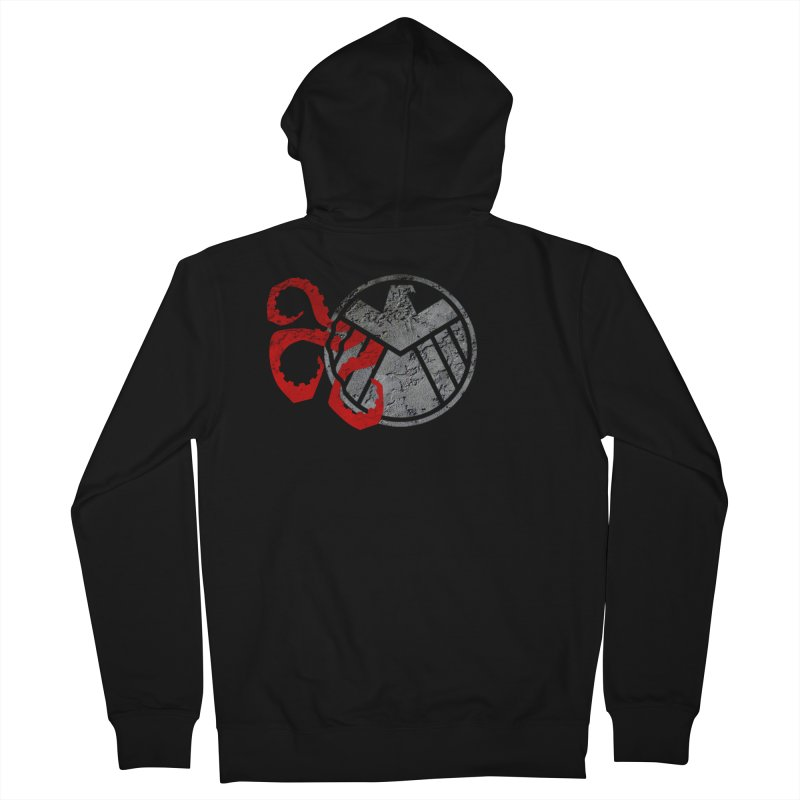 Lurking In The Shadows Men's French Terry Zip-Up Hoody by Evan Ayres Design