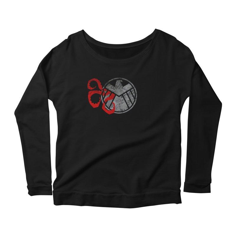 Lurking In The Shadows Women's Scoop Neck Longsleeve T-Shirt by Evan Ayres Design