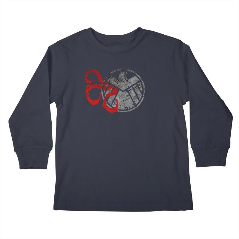 Lurking In The Shadows Kids Longsleeve T-Shirt by Evan Ayres Design