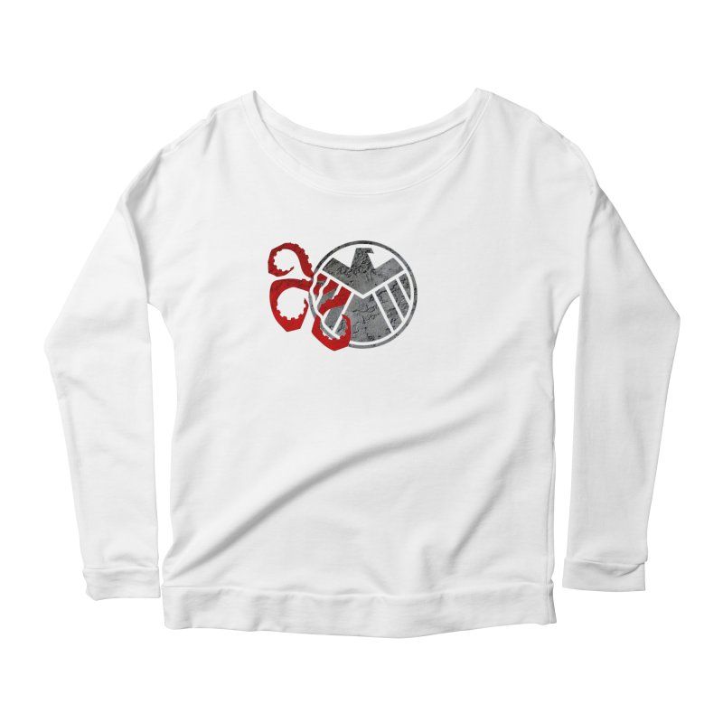 Lurking In The Shadows Women's Scoop Neck Longsleeve T-Shirt by Evan Ayres