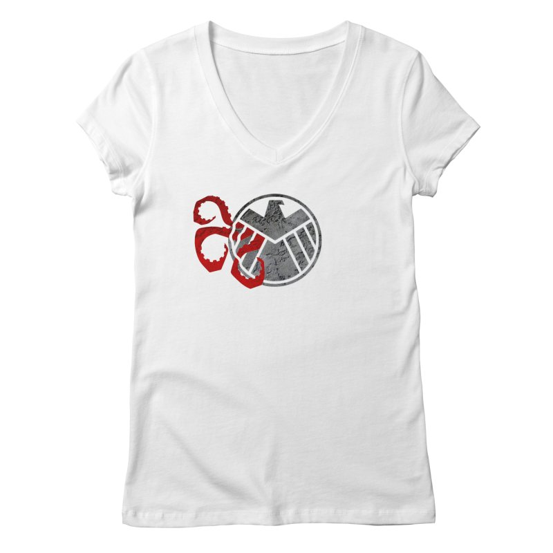 Lurking In The Shadows Women's V-Neck by Evan Ayres