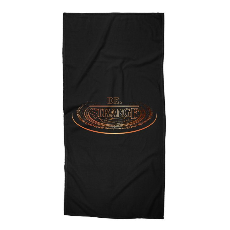 Dr. Stranger Things Accessories Beach Towel by Evan Ayres Design