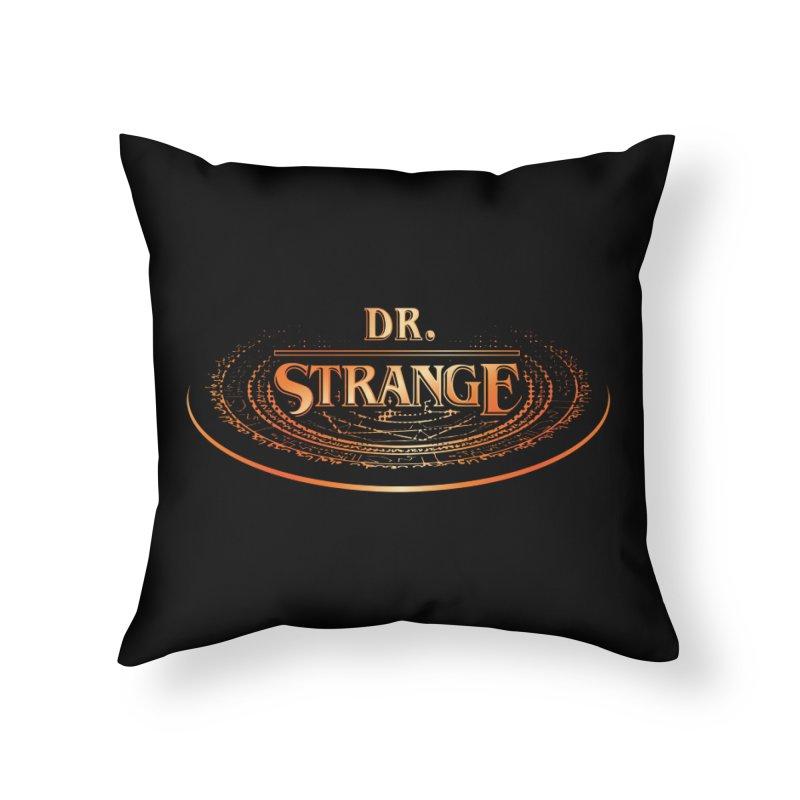 Dr. Stranger Things Home Throw Pillow by Evan Ayres Design
