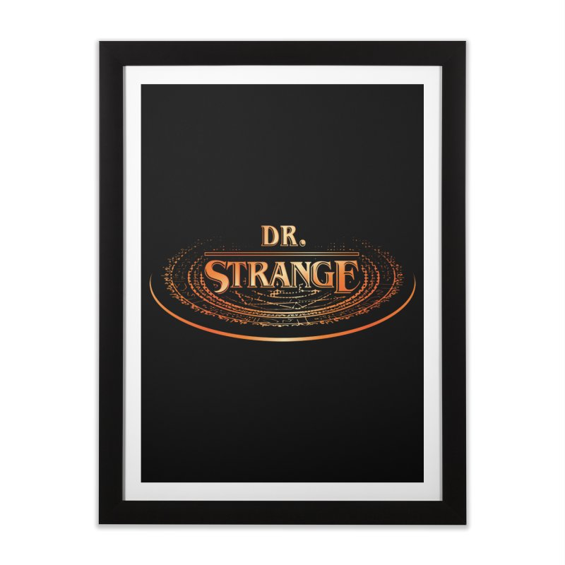 Dr. Stranger Things Home Framed Fine Art Print by Evan Ayres