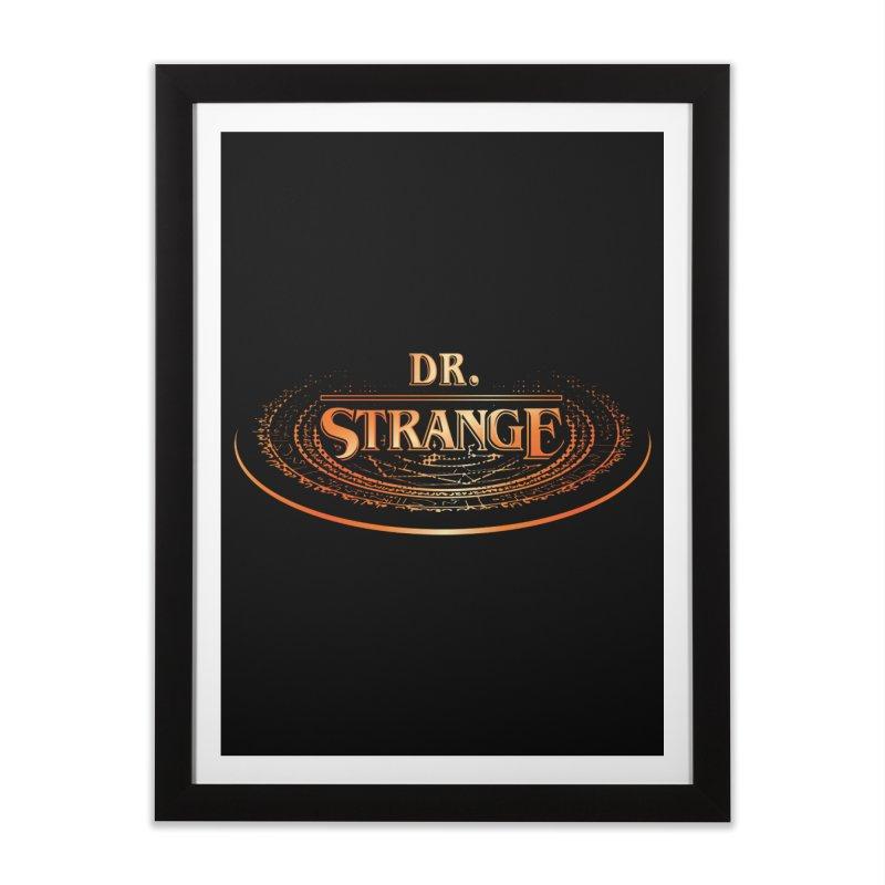 Dr. Stranger Things Home Framed Fine Art Print by Evan Ayres Design