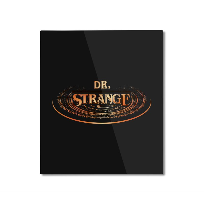 Dr. Stranger Things Home Mounted Aluminum Print by Evan Ayres Design