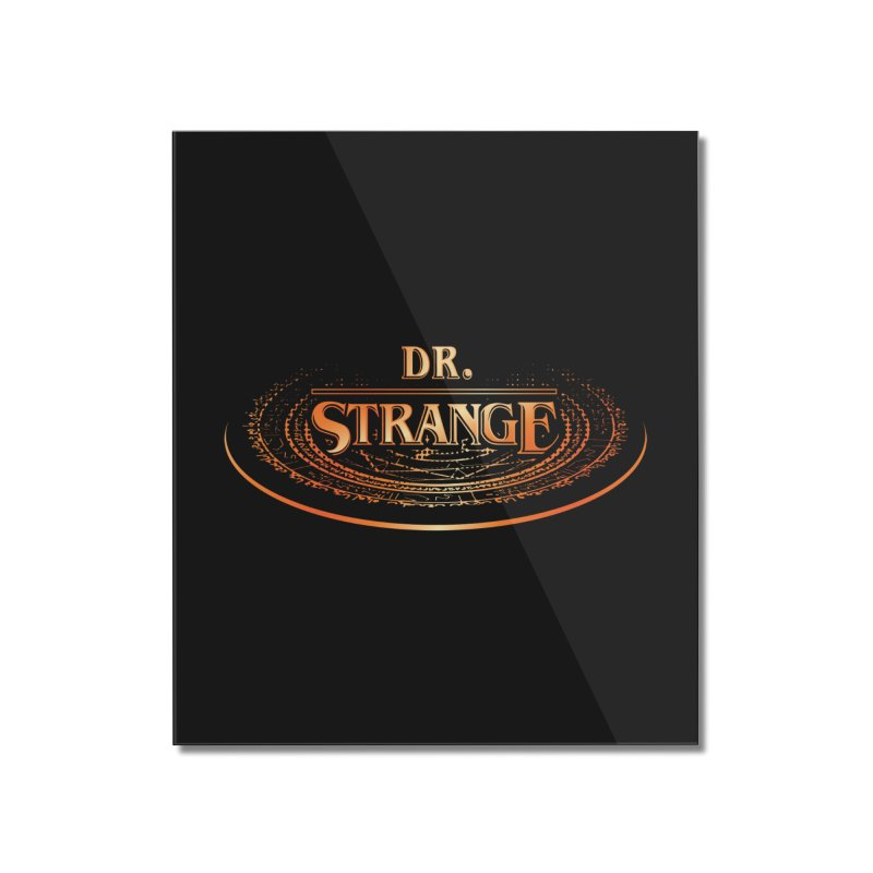 Dr. Stranger Things Home Mounted Acrylic Print by Evan Ayres