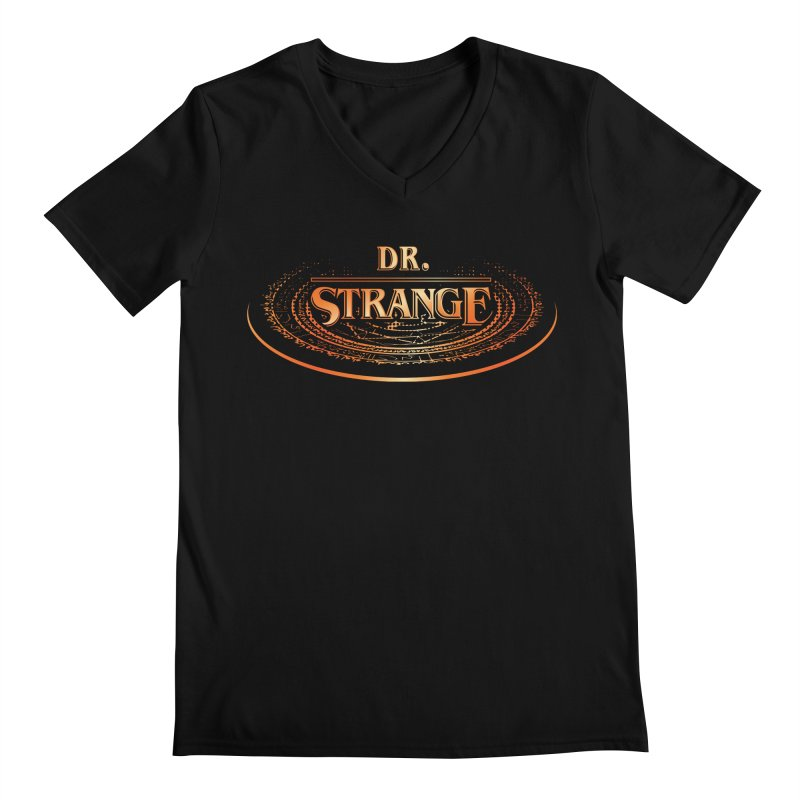 Dr. Stranger Things Men's V-Neck by Evan Ayres