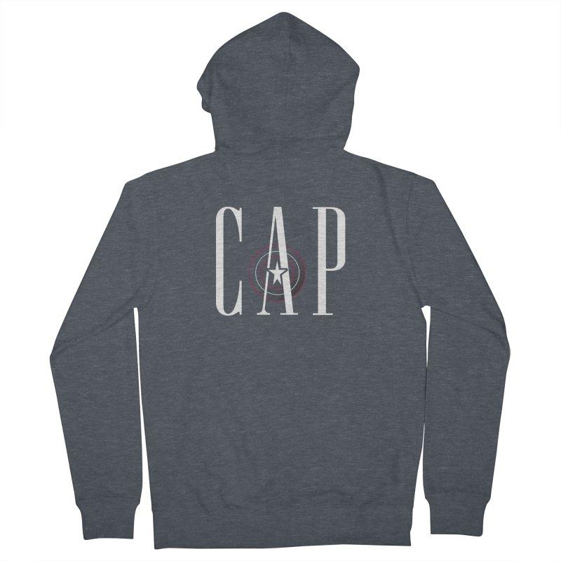 Cap Men's French Terry Zip-Up Hoody by Evan Ayres