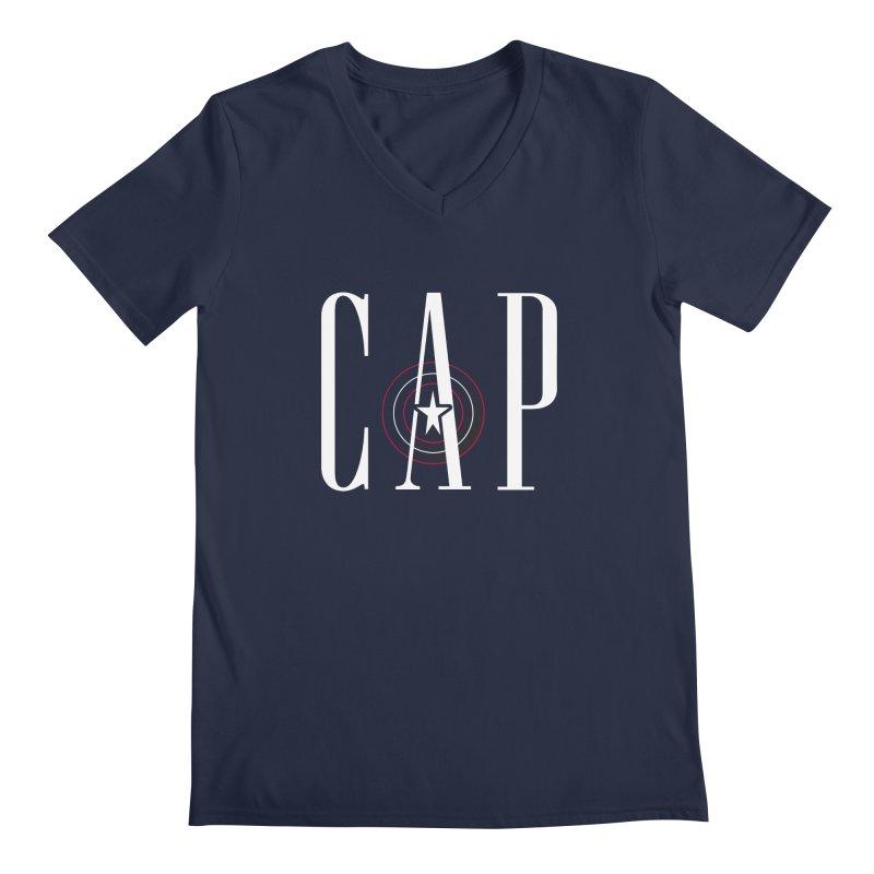 Cap Men's Regular V-Neck by Evan Ayres Design