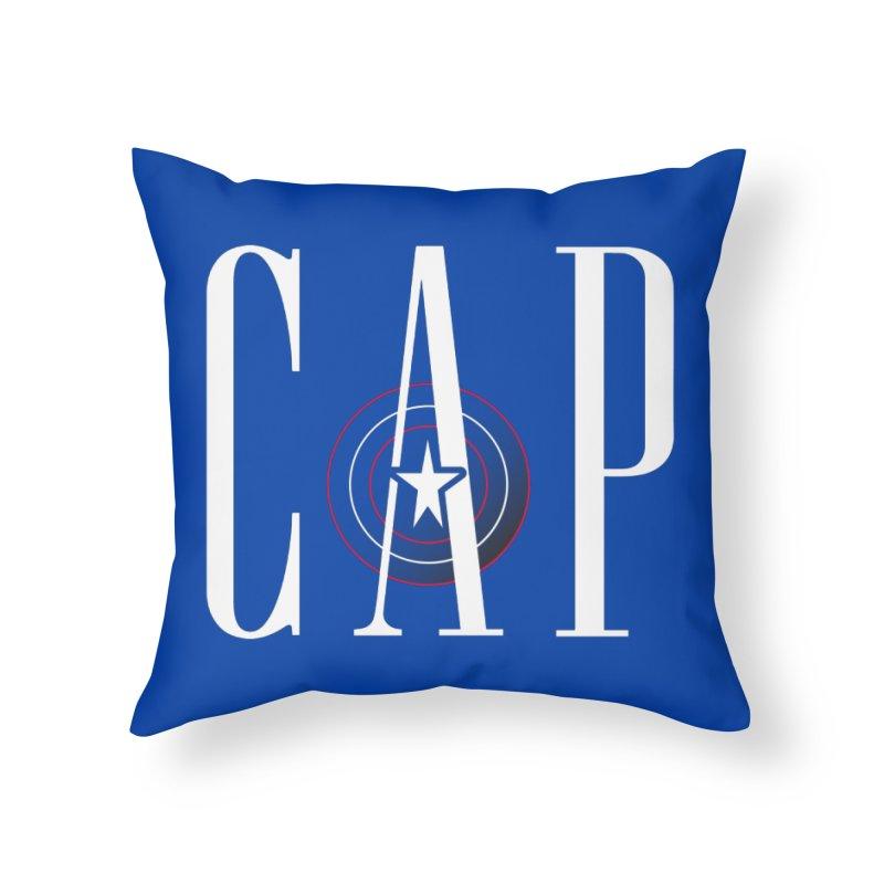Cap Home Throw Pillow by Evan Ayres Design
