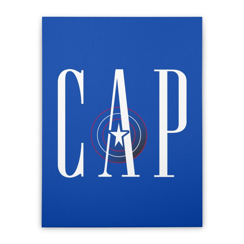 Cap Home Stretched Canvas by Evan Ayres Design