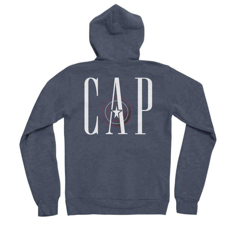 Cap Women's Sponge Fleece Zip-Up Hoody by Evan Ayres Design