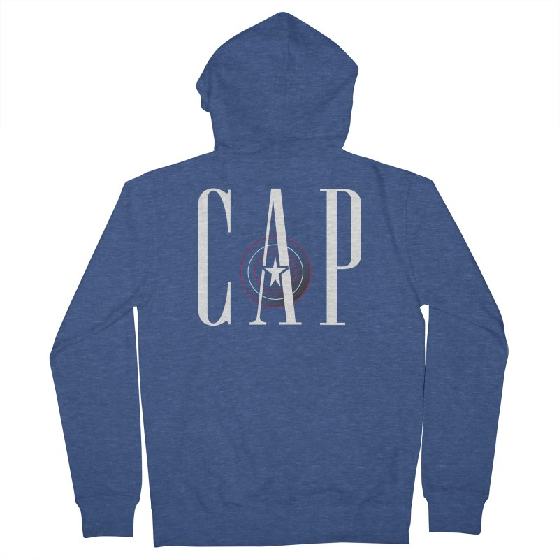 Cap Men's French Terry Zip-Up Hoody by Evan Ayres Design