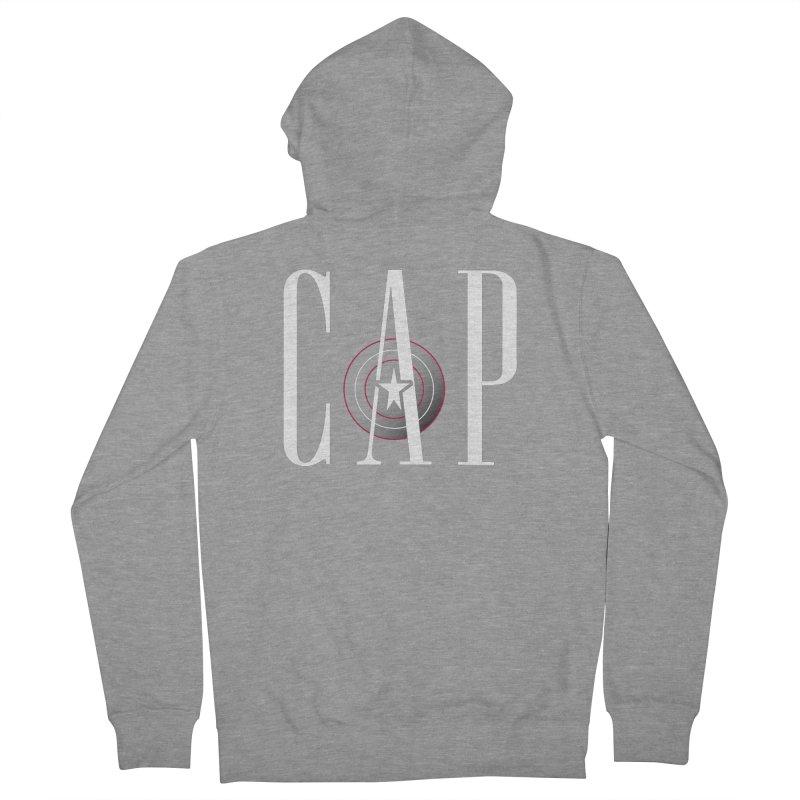 Cap Men's French Terry Zip-Up Hoody by Evan Ayres Design