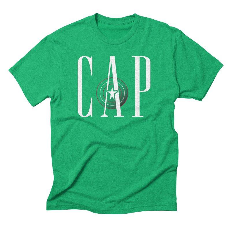 Cap Men's Triblend T-Shirt by Evan Ayres Design