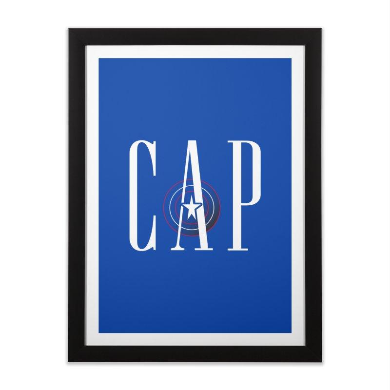 Cap Home Framed Fine Art Print by Evan Ayres Design