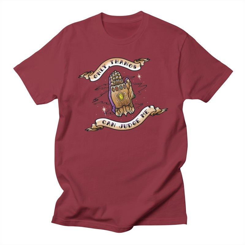 Only Thanos Can Judge Me Men's Regular T-Shirt by Evan Ayres Design