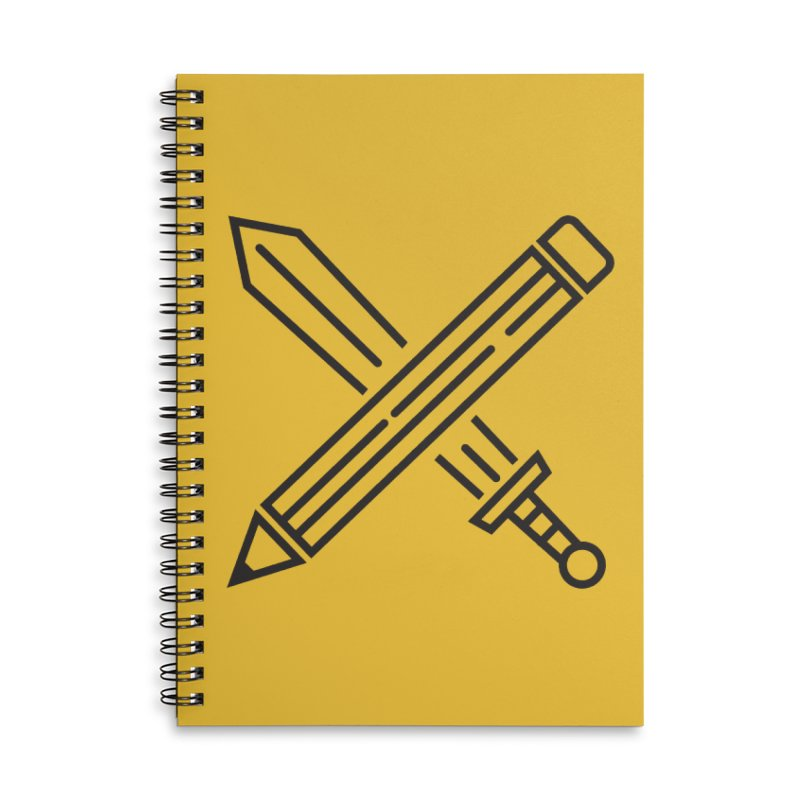 Create Or Die (Art is a Weapon) Accessories Lined Spiral Notebook by evanluza's Artist Shop
