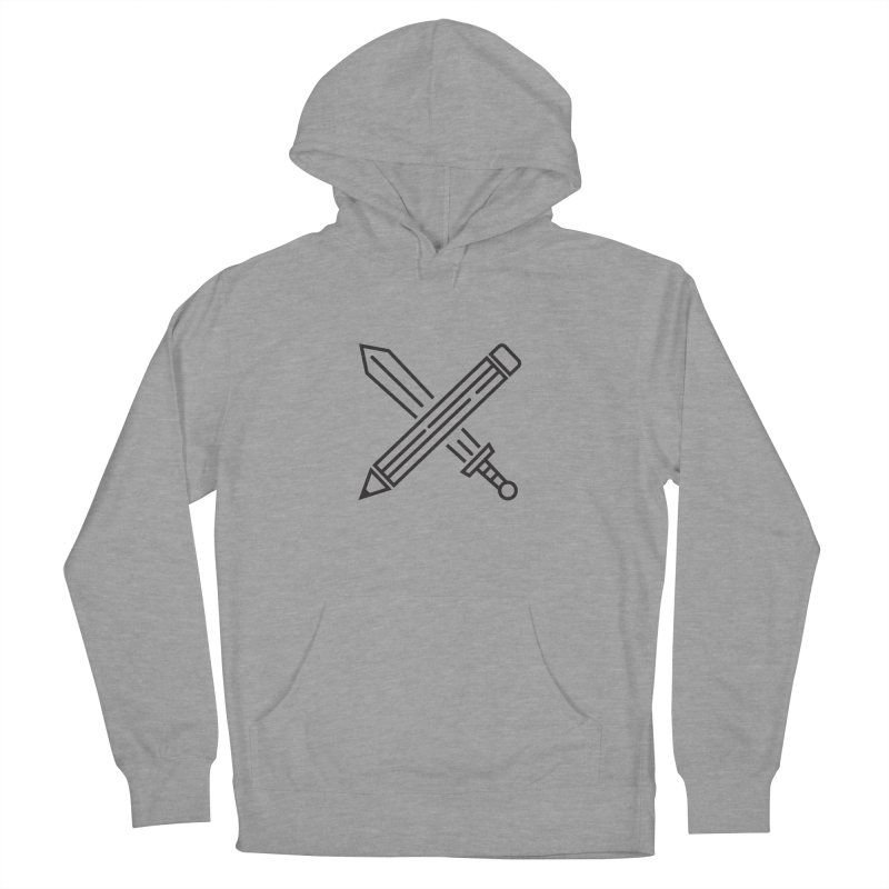 Create Or Die (Art is a Weapon) Men's French Terry Pullover Hoody by evanluza's Artist Shop
