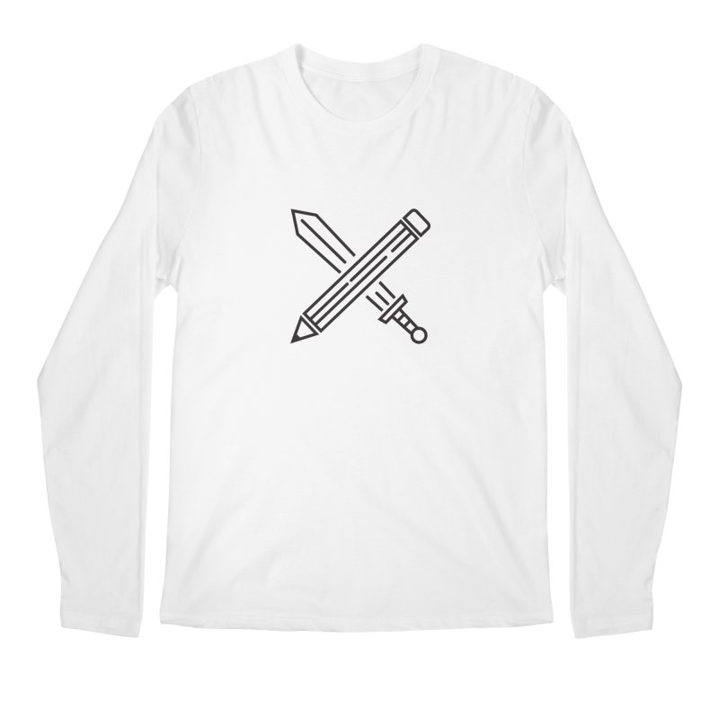 Create Or Die (Art is a Weapon) Men's Regular Longsleeve T-Shirt by evanluza's Artist Shop
