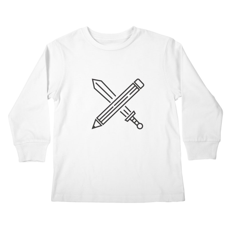 Create Or Die (Art is a Weapon) Kids Longsleeve T-Shirt by evanluza's Artist Shop
