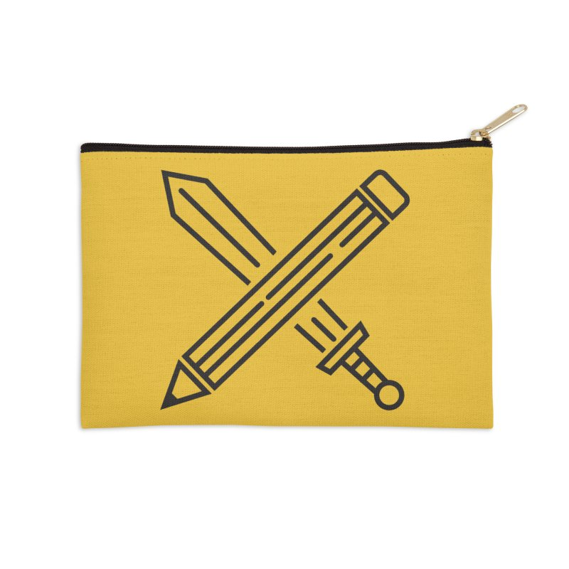 Create Or Die (Art is a Weapon) Accessories Zip Pouch by evanluza's Artist Shop