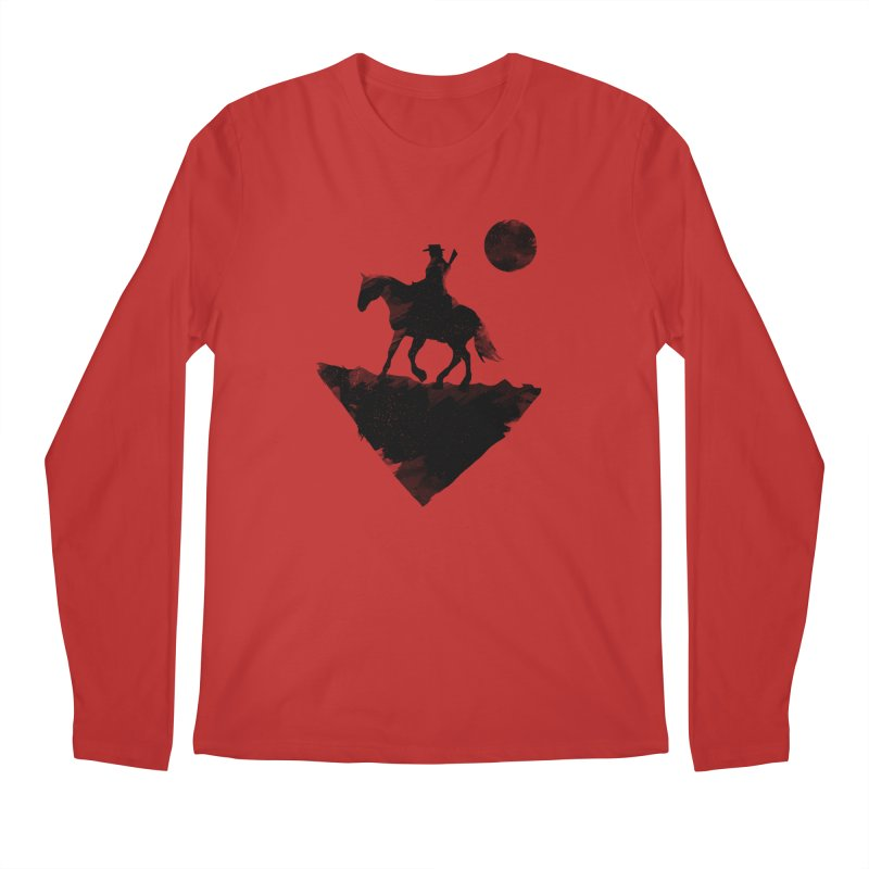 Redemption (The Lone Cowboy) Men's Regular Longsleeve T-Shirt by evanluza's Artist Shop