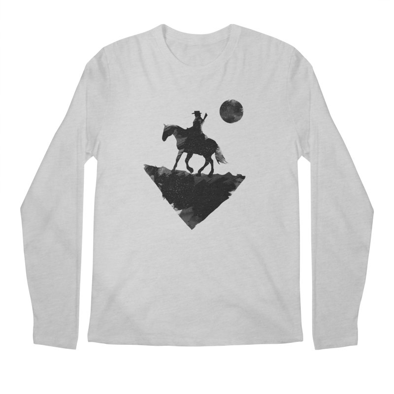 Redemption (The Lone Cowboy) Men's Longsleeve T-Shirt by evanluza's Artist Shop