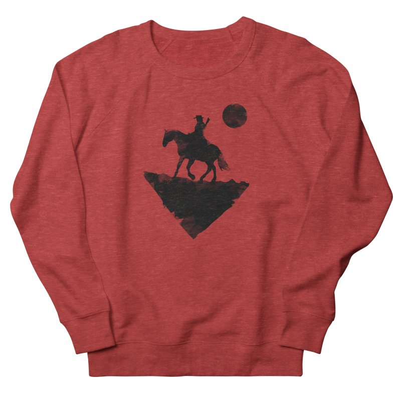 Redemption (The Lone Cowboy) Men's French Terry Sweatshirt by evanluza's Artist Shop