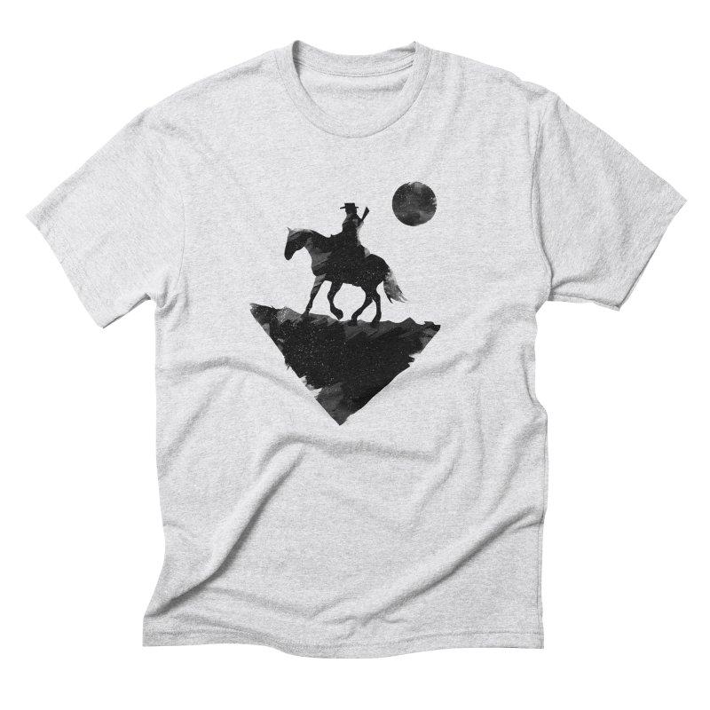 Redemption (The Lone Cowboy) Men's Triblend T-Shirt by evanluza's Artist Shop