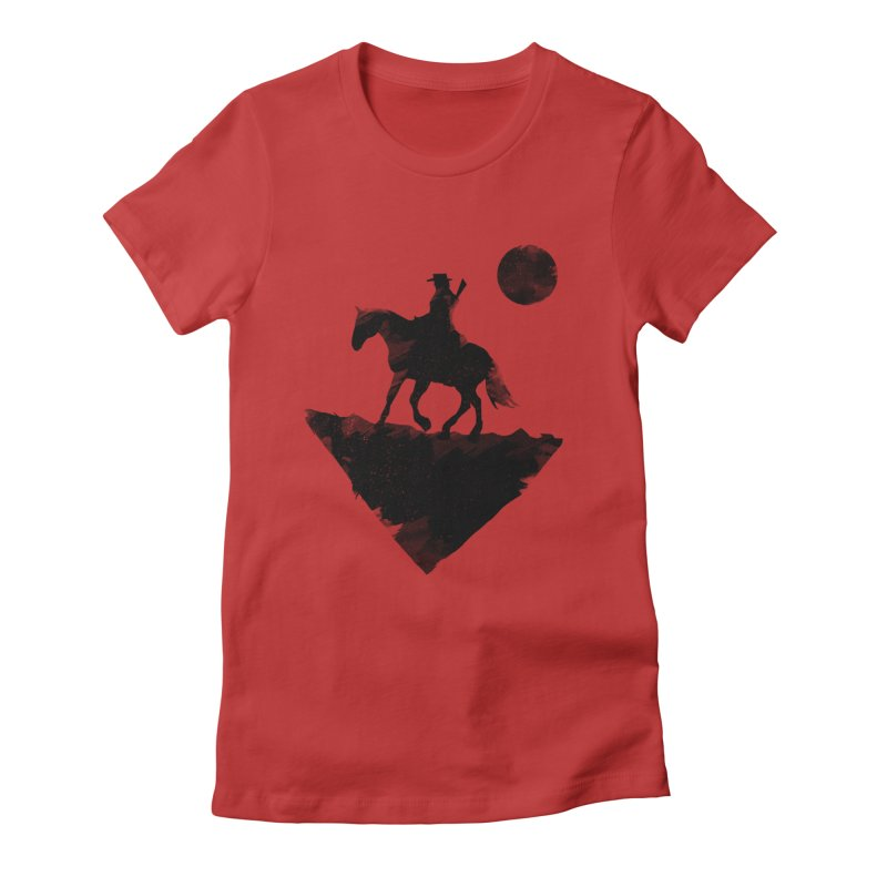 Redemption (The Lone Cowboy) Women's Fitted T-Shirt by evanluza's Artist Shop