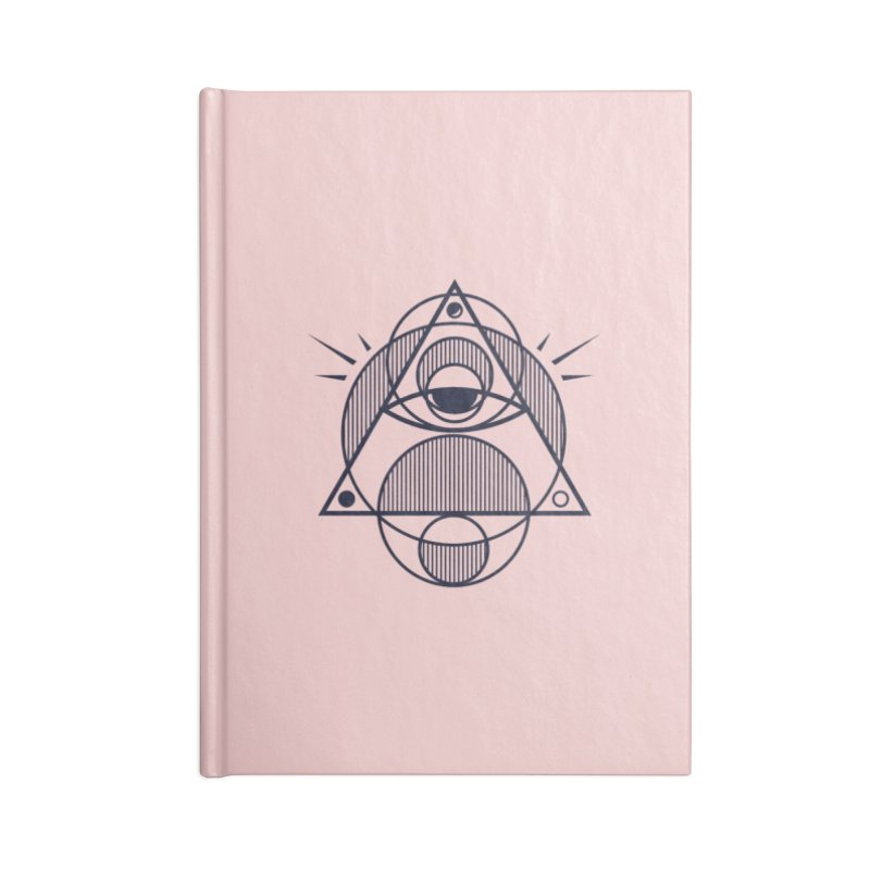 Omnipotent (The All Seeing Geometric Pyramid Eye) Accessories Notebook by evanluza's Artist Shop