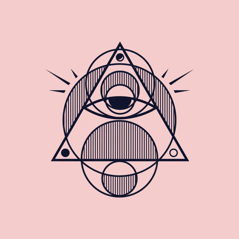 Omnipotent (The All Seeing Geometric Pyramid Eye) by evanluza's Artist Shop