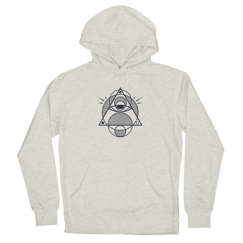Omnipotent (The All Seeing Geometric Pyramid Eye) Women's French Terry Pullover Hoody by evanluza's Artist Shop