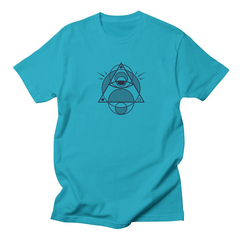 Omnipotent (The All Seeing Geometric Pyramid Eye) Men's Regular T-Shirt by evanluza's Artist Shop
