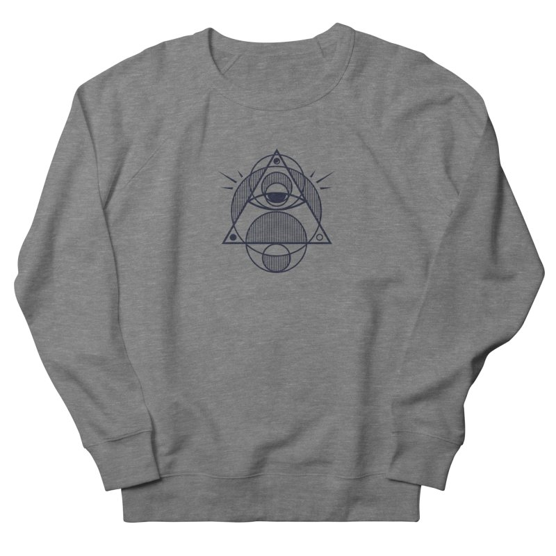 Omnipotent (The All Seeing Geometric Pyramid Eye) Women's French Terry Sweatshirt by evanluza's Artist Shop